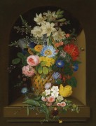 Букет цветов в корзине с бабочками - Фидлер, Антон