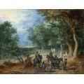 Лесной пейзаж со стражей - Брейгель, Ян (Старший)