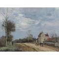 Дом господина Мусы, дорога Марли, Лувизьенн, 1872 - Писсарро, Камиль