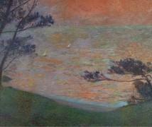 Закат на берегу моря, 1898-1899 - Мартин, Анри Жан Гийом Мартин