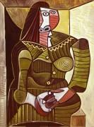 Женщина в зеленом платье - Пикассо, Пабло
