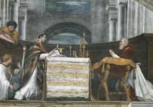 Станца Илиодора: Месса в Больсене (фрагмент) - Рафаэль, Санти