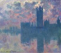 Здание Парламента в Лондоне, закат - Моне, Клод