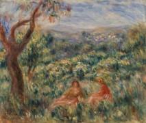 Пейзаж с двумя женщинами - Ренуар, Пьер Огюст