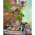 Ваза с цветами на восточном ковре - Валадон, Сюзанна