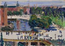 Вид из окна, Амстердам - Кандинский, Василий Васильевич