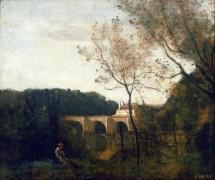 Старый мост в Манте - Коро, Жан-Батист Камиль