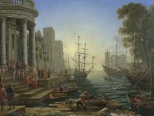 Морской порт.Посадка святой Урсулы - Лоррен, Клод (Желле)