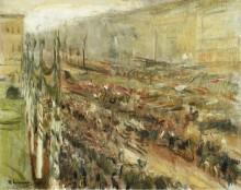 Военный парад на Парижской площади, 1918 - Либерман, Макс
