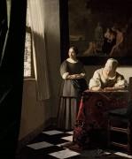 Дама, пишущая письмо и служанка - Вермеер, Ян