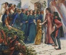Встреча Данте и Беатриче - Россетти, Данте Габриэль