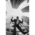 Восторженный  бизнесмен и небоскребы