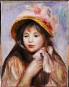 Девочка со шляпой - Ренуар, Пьер Огюст