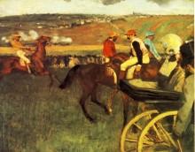 Скачки, жокеи-любители, 1880 - Дега, Эдгар
