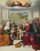 Святое семейство со святыми -  Гарофало (Тизи, Бенвенуто)