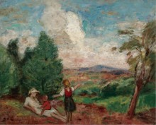 Мать и дети, пейзаж, 1923 - д'Эспанья, Жорж