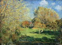 Сад имения семейства Хосхеде - Сислей, Альфред