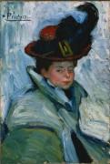 Женщина в плаще - Пикассо, Пабло