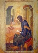 Царские врата иконостаса (1425-1427)_деталь 6. Евангелист Матфей - Рублев, Андрей