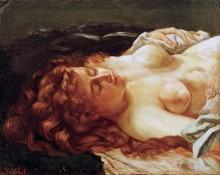Спящая рыжеволосая женщина - Курбе, Гюстав