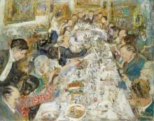 Ужин художников сделанный  мсье и мадам Поль Петридис 1937 - Адрион, Люсьен