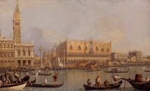 Вид на Герцогский дворец в Венеции - Каналетто (Джованни Антонио Каналь)