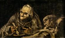 Старики едят суп (черные картины) - Гойя, Франсиско Хосе де