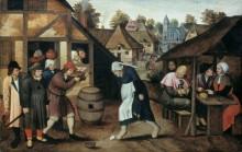 Яичный танец - Брейгель, Питер (Младший)