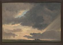 Закат в римской Кампаньи - Дени, Симон