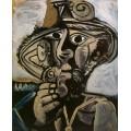 Мужчина с трубкой, 1971 - Пикассо, Пабло