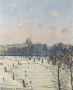 Сад Тюильри, снег , 1900 - Писсарро, Камиль