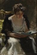 Читательница, 1900 -  Уайлс, Ирвинг Рамсей