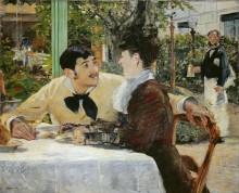 В кафе папаши Латюиля - Мане, Эдуард
