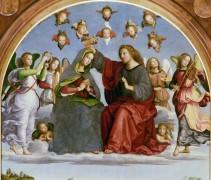 Алтарь Одди (навершие) - Коронование Девы Марии - Рафаэль, Санти