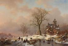 Пейзаж с зимними забавами - Круземан, Фредерик Маринус