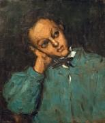 Мальчик, облокотившийся на руку - Сезанн, Поль