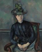 Мадам Сезанн в зеленой шляпке - Сезанн, Поль