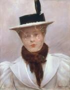 Молодая парижанка в шляпке - Беро, Жан