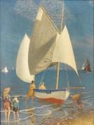 Парусная лодка на берегу моря - Саутолл, Джозеф Эдвард