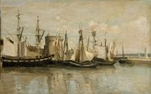 Порт в Ла-Рошели - Коро, Жан-Батист Камиль