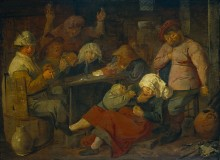 Таверна с пьющими крестьянами - Брауэр, Адриан