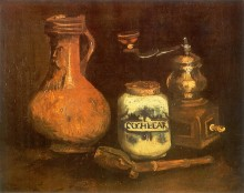Натюрморт с кофемолкой, трубкой и кувшином - Гог, Винсент ван