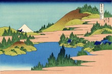 Озеро  Хаконе - Кацусика, Хокусай