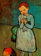 Ребенок  с голубем, 1901 - Пикассо, Пабло