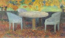 Большой каменный стол под каштанами, 1915 - Мартен, Анри Жан Гийом