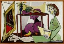 Интерьер комнаты с рисующей девушкой - Пикассо, Пабло