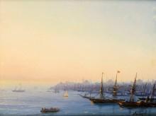 Закат над Золотым Рогом, Константинополь - Айвазовский, Иван Константинович