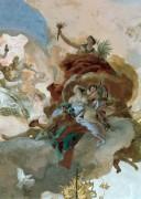 Аполлон сопровождает Беатрис Бургундскую в качестве невесты императору Фридриху Барбароссе, деталь - Вакх, Венера и Церера - Тьеполо, Джованни Баттиста
