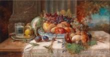 Натюрморт с фруктами и грибами - Зацка, Ханс