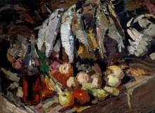 Рыбы, вино и фрукты - Коровин, Константин Алексеевич